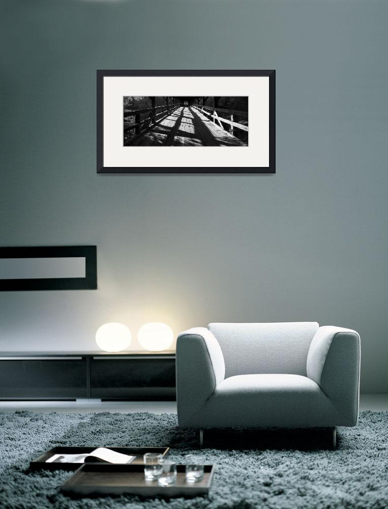 """""""Bridge over the River Sava in black and white""""  (2011) by IanMiddletonphotography"""