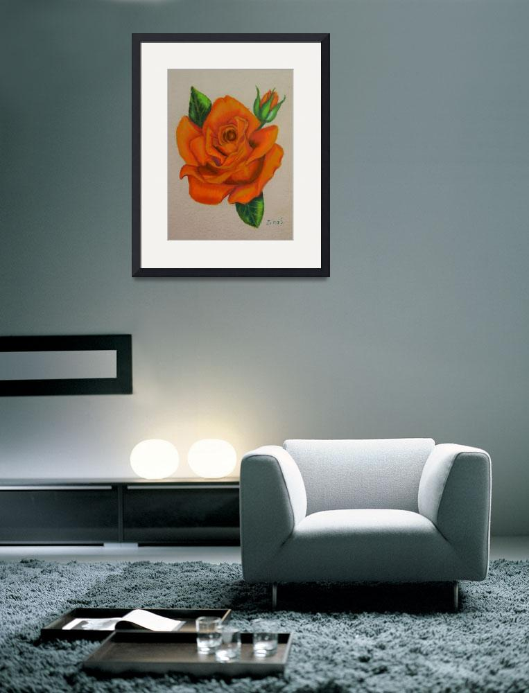 """Orange rose""  (2012) by Zinastr"
