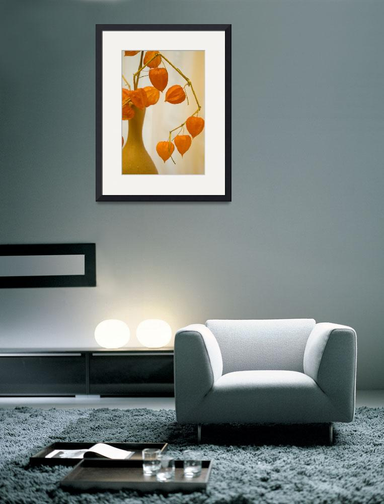 """""""Orange still life with a jug and the dried flowers&quot  by RomanPopov"""