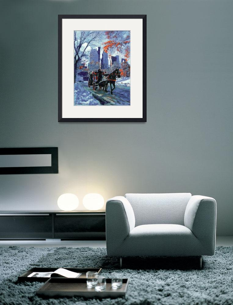 """First Snow in Central Park - New York City Art by&quot  (2004) by RDRiccoboni"