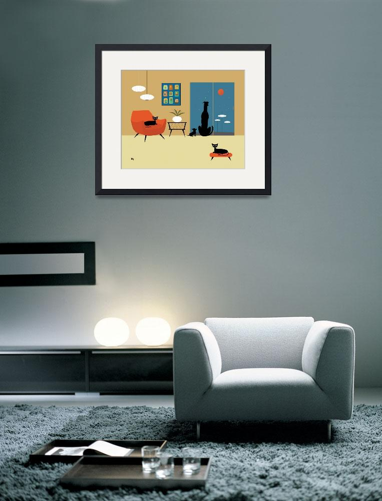 """Mid Century Dogs and Cats&quot  (2013) by DMibus"