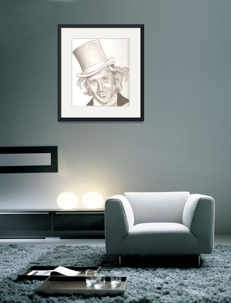 """""""Gene Wilder drawing&quot  (2013) by RobCrandall"""