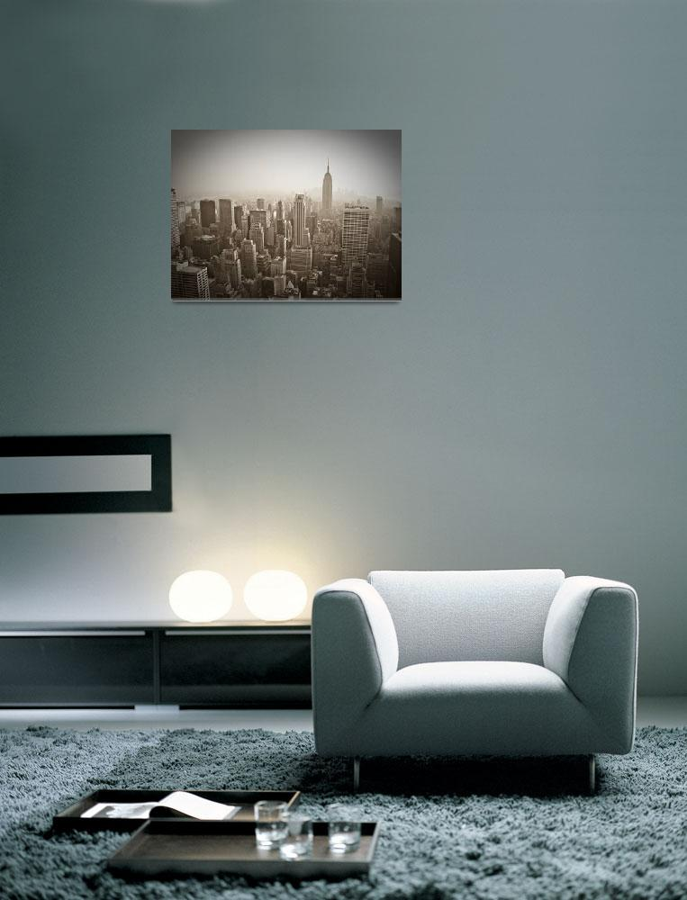 """""""Empire State Building and Manhattan Skyline&quot  (2007) by AlanCopson"""