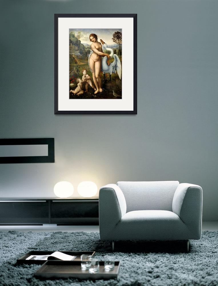 """""""Leda and swan""""  by fineartmasters"""