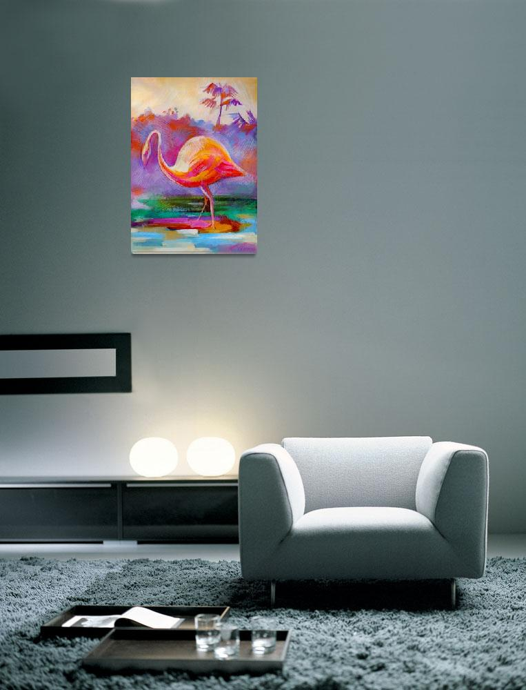 """Flamingo Bird&quot  (2011) by painterflipper"