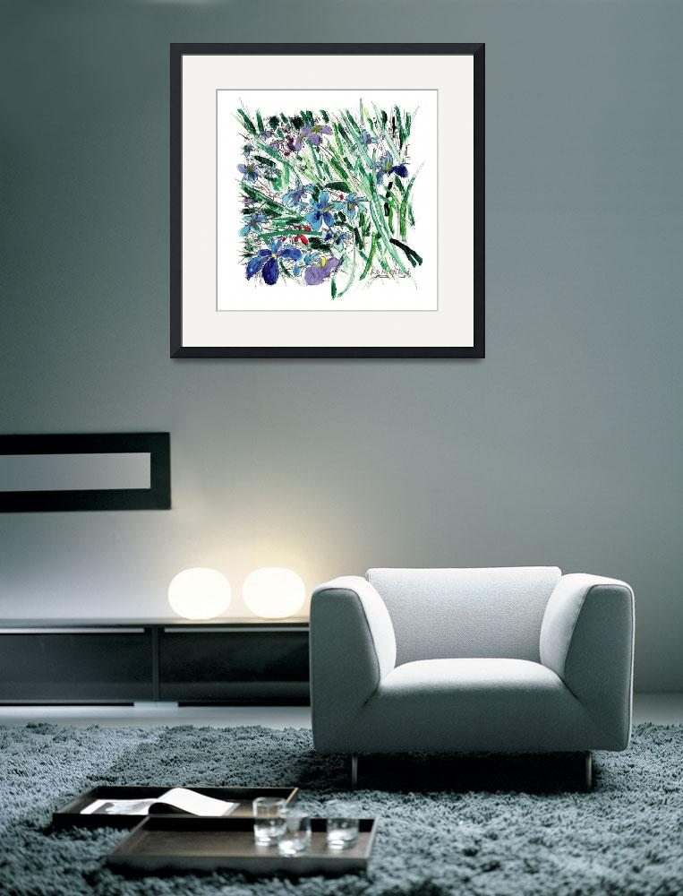 """Blue Iris in the Garden&quot  (2007) by RDRiccoboni"