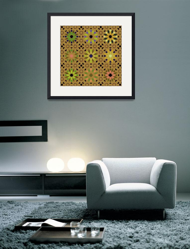 """""""Morocco bright gold green&quot  (2010) by LeslieTillmann"""