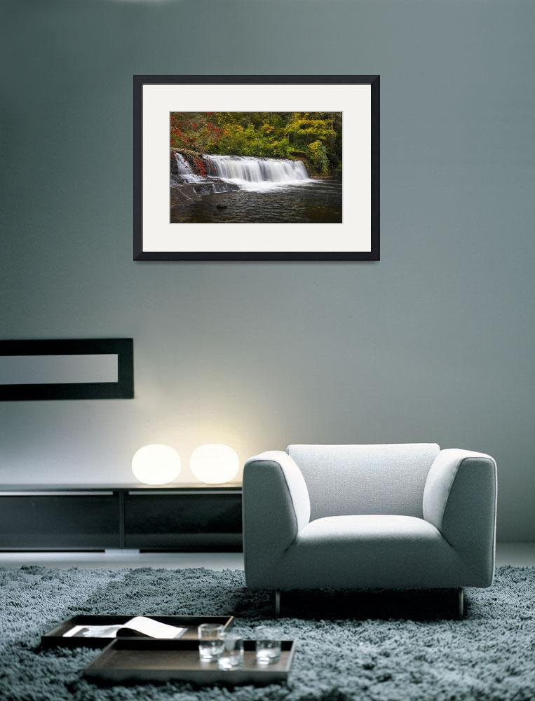 """Hooker Falls in Autumn - Dupont State Forest NC&quot  (2012) by DAPhoto"