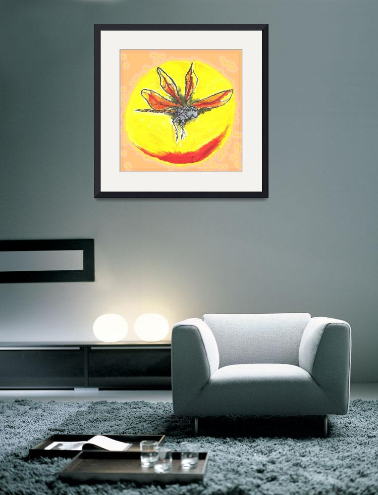 """""""Watercolor Dragonfly Sun&quot  by CRS"""