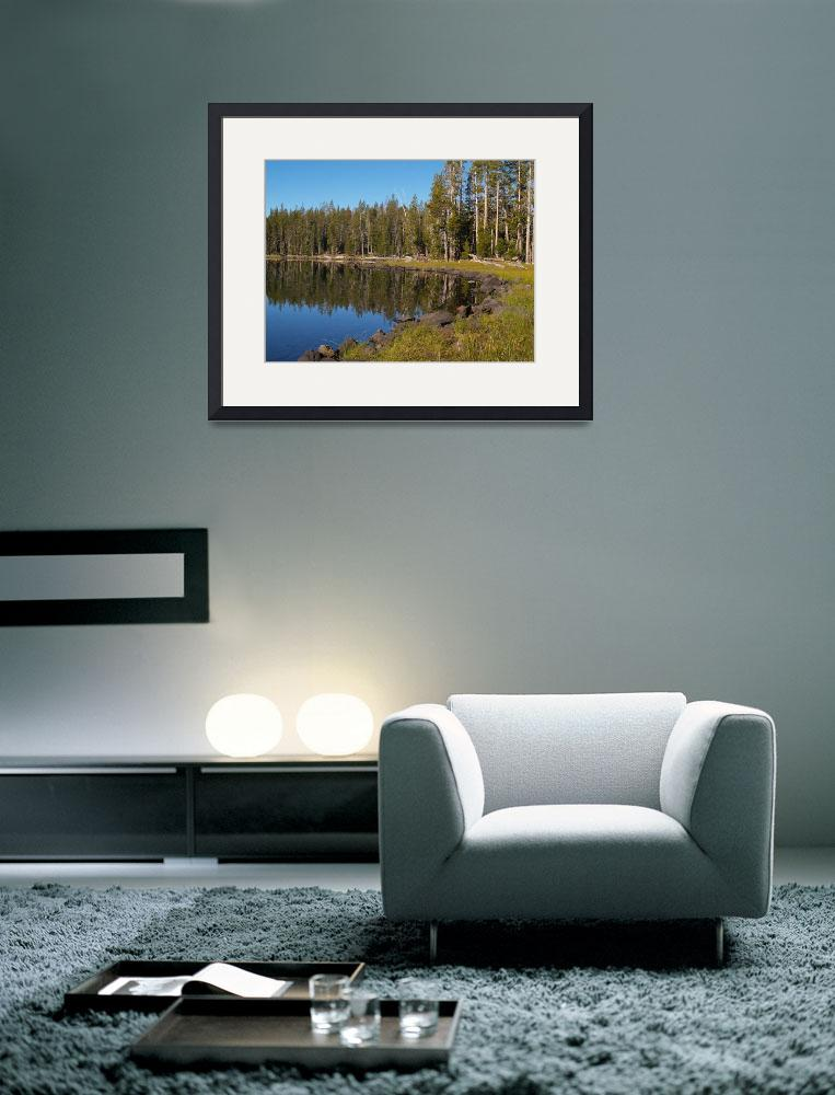 """""""Triangle Lake, Caribou Wilderness Area&quot  by Michele"""