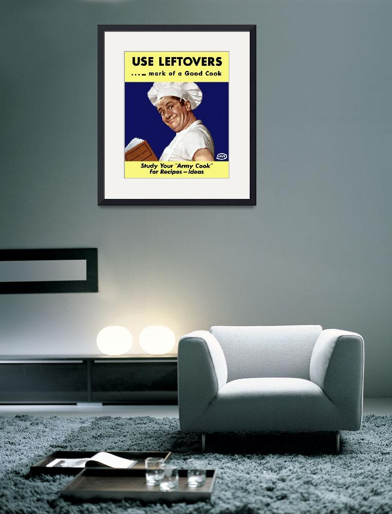 """""""Vintage World War II poster of an army cook readin&quot  by stocktrekimages"""