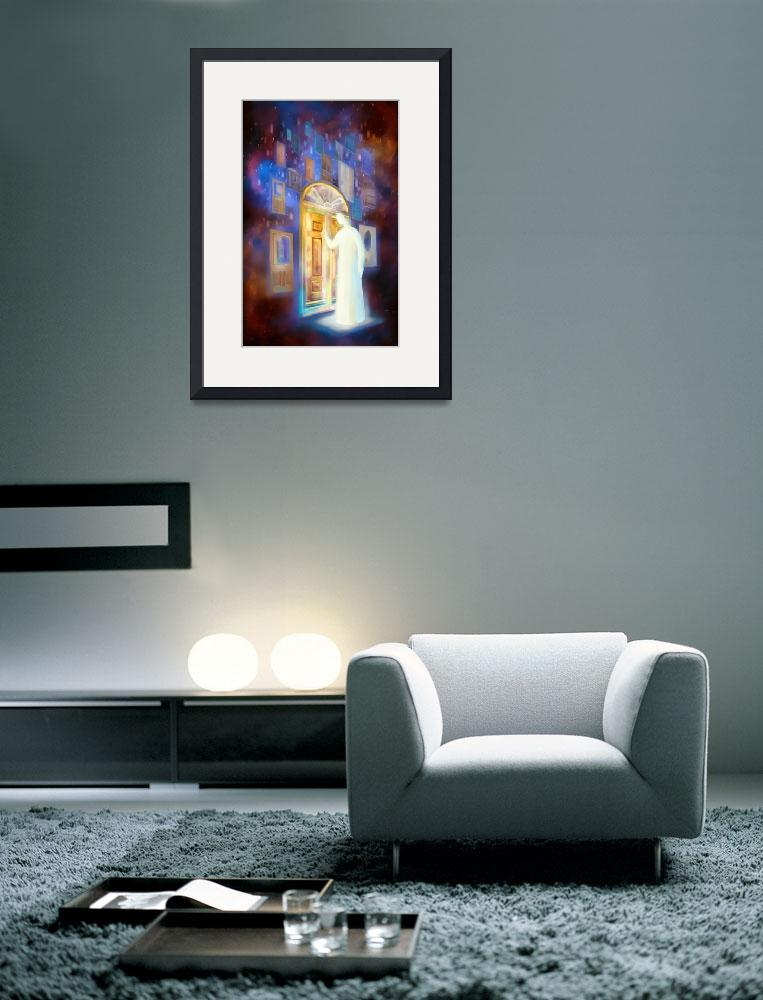 """""""Jesus stands at the door and knocks""""  (2009) by AinVaresArt"""