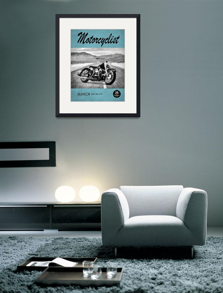 """Motorcycle Magazine Harley 1950&quot  (2010) by mark-rogan"