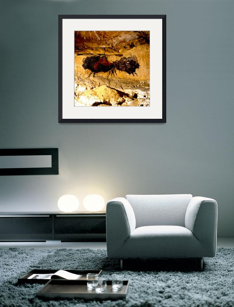 """2 Buffalo Lascaux Cave SE France&quot  (2014) by TheNorthernTerritory"