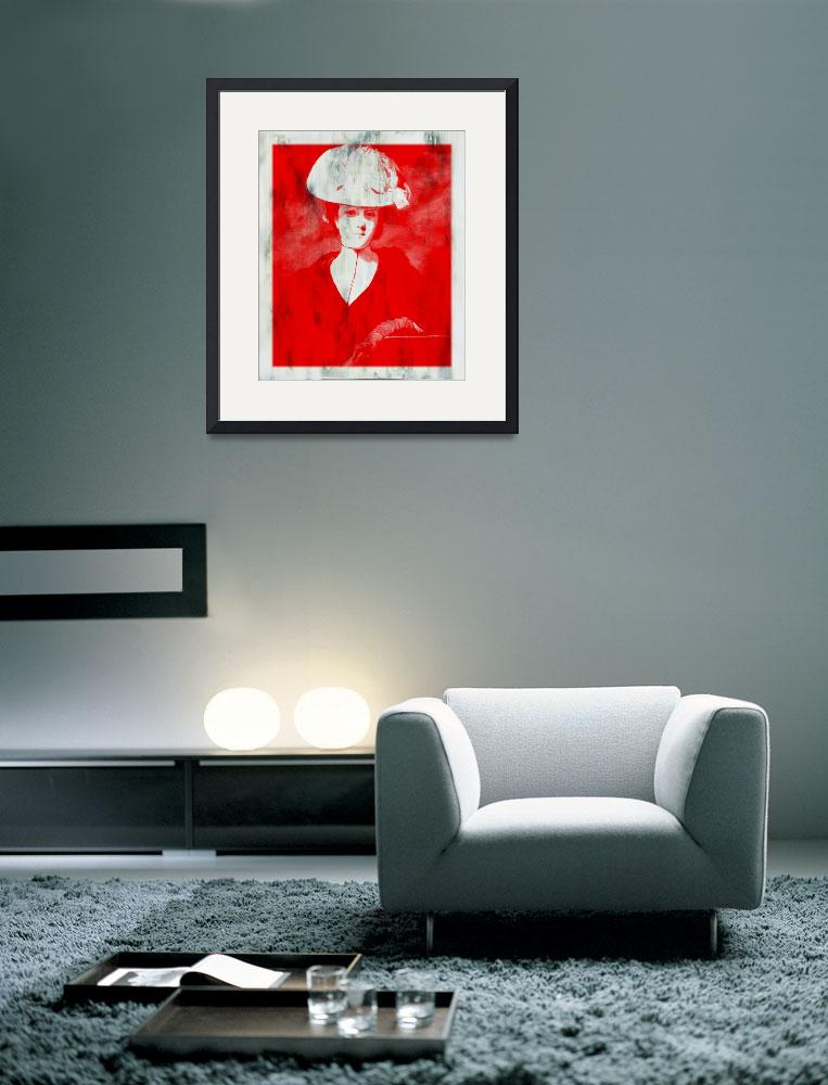 """""""RED DAME IN HAT AFTER REYNOLDS&quot  (2015) by DADIO"""