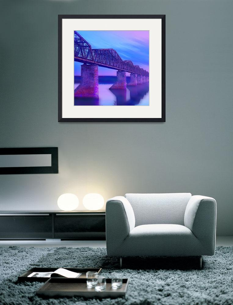 """Hope Bridge Soft""  (2018) by RubinoFineArt"