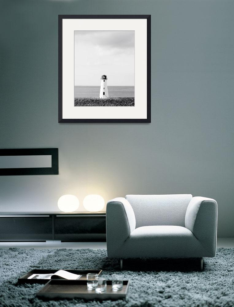 """Minimalist Lighthouse Photo - Black and White Naut&quot  (2011) by StephsShoes"
