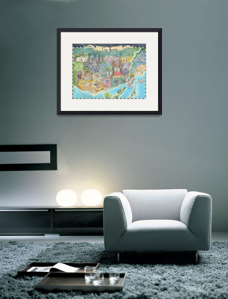"""""""Map of Toronto 2013 Might and Magic Style Print of&quot  (2013) by catshrine"""