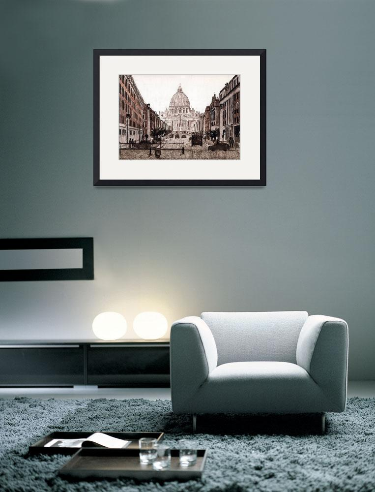 """""""St Peters from the west""""  (2009) by RJFlynn"""