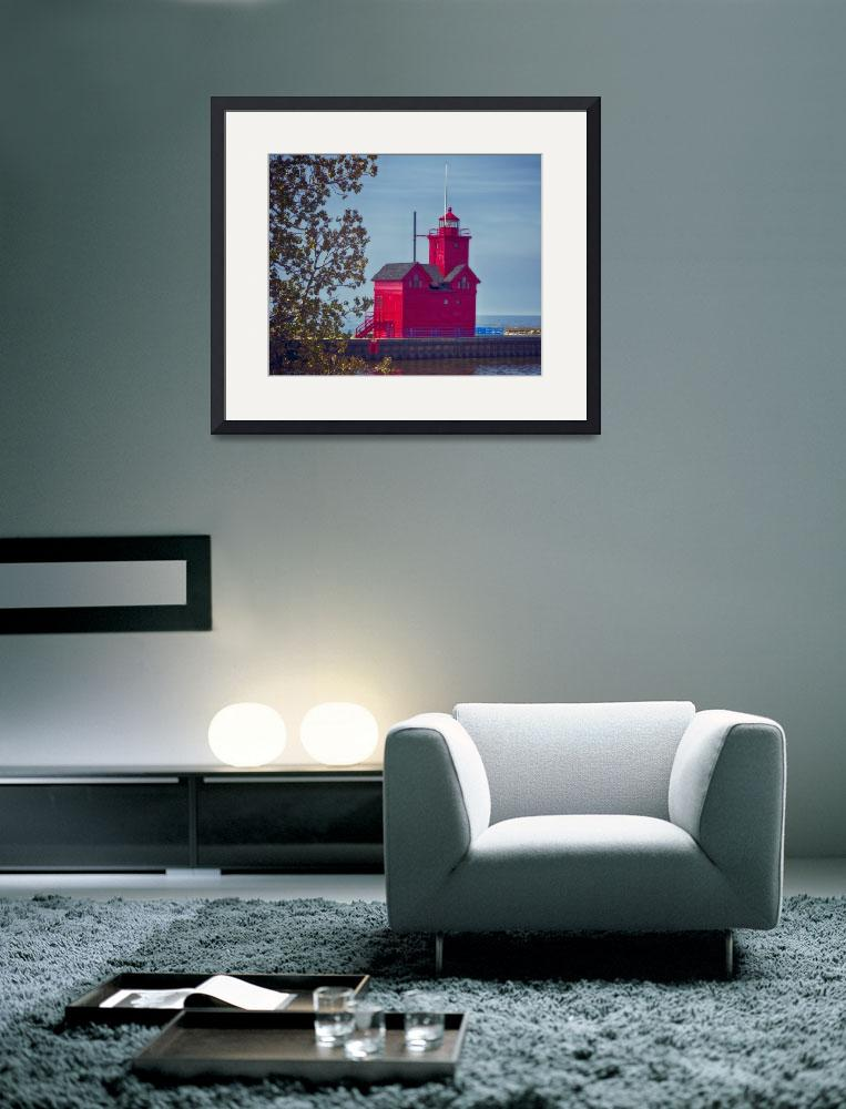 """Big Red Lighthouse""  (2013) by SoulfulPhotos"