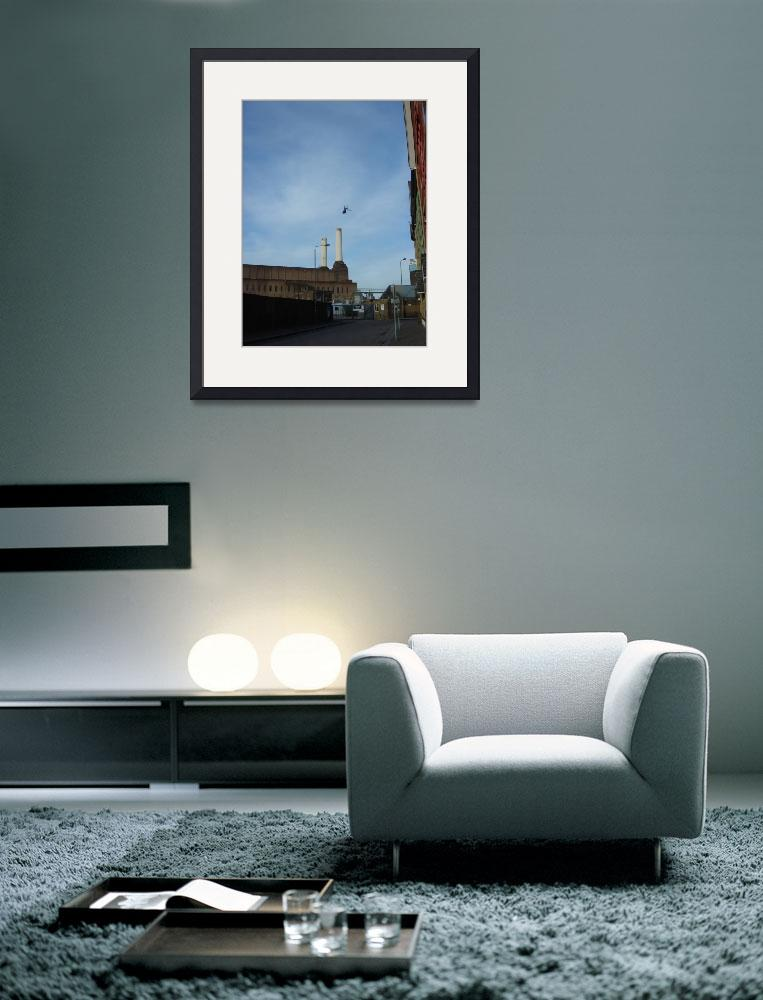 """""""Battersea Power Station With Helicopter&quot  by RandomlyLondon"""
