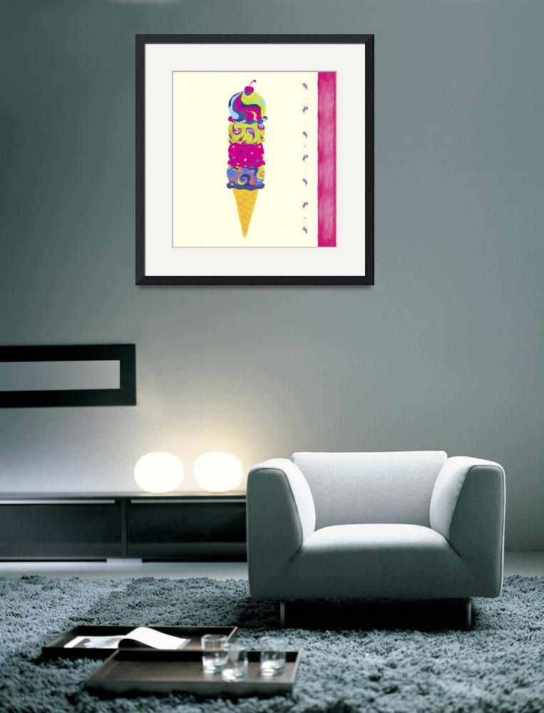 """Ice Cream Cone&quot  by artlicensing"