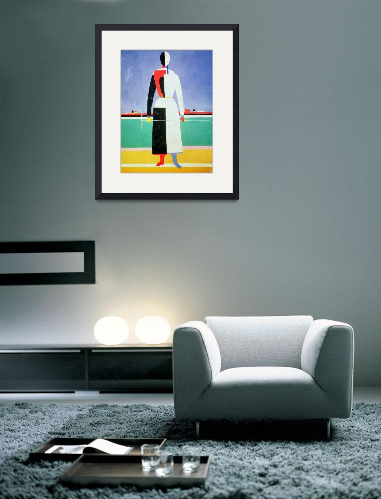 """""""Woman with a Rake by Kazimir Malevich&quot  by fineartmasters"""