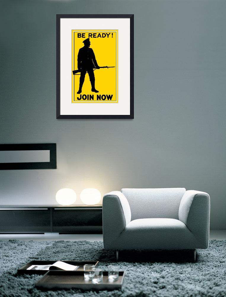 """""""Vintage World War I poster showing the silhouette&quot  by stocktrekimages"""