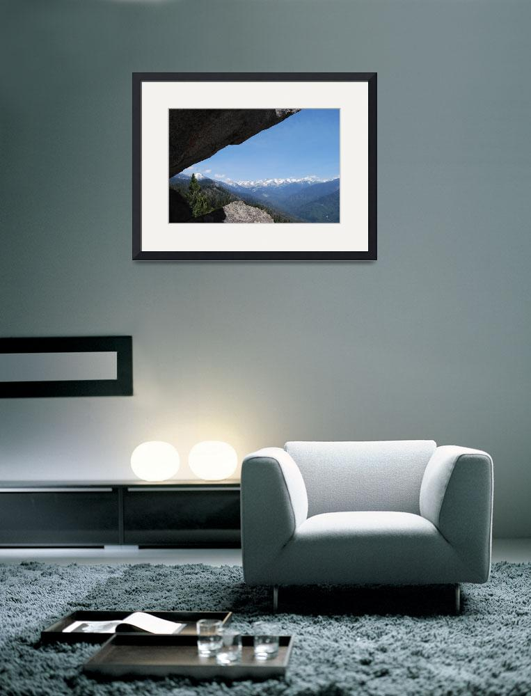 """Climbing Moro Rock Staircase: Viewpoint Great West""  (2009) by barbsummering"