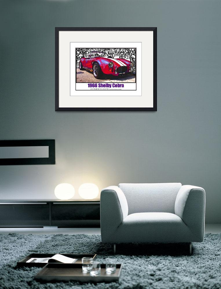 """""""1966 Shelby Cobra, Red with White Border&quot  (2009) by Automotography"""