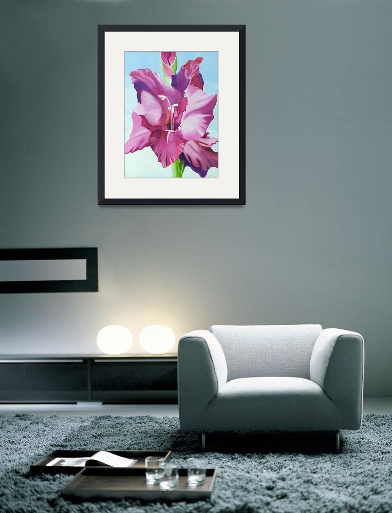 """""""Magenta Gladiolus&quot  (2006) by ronmeadow"""