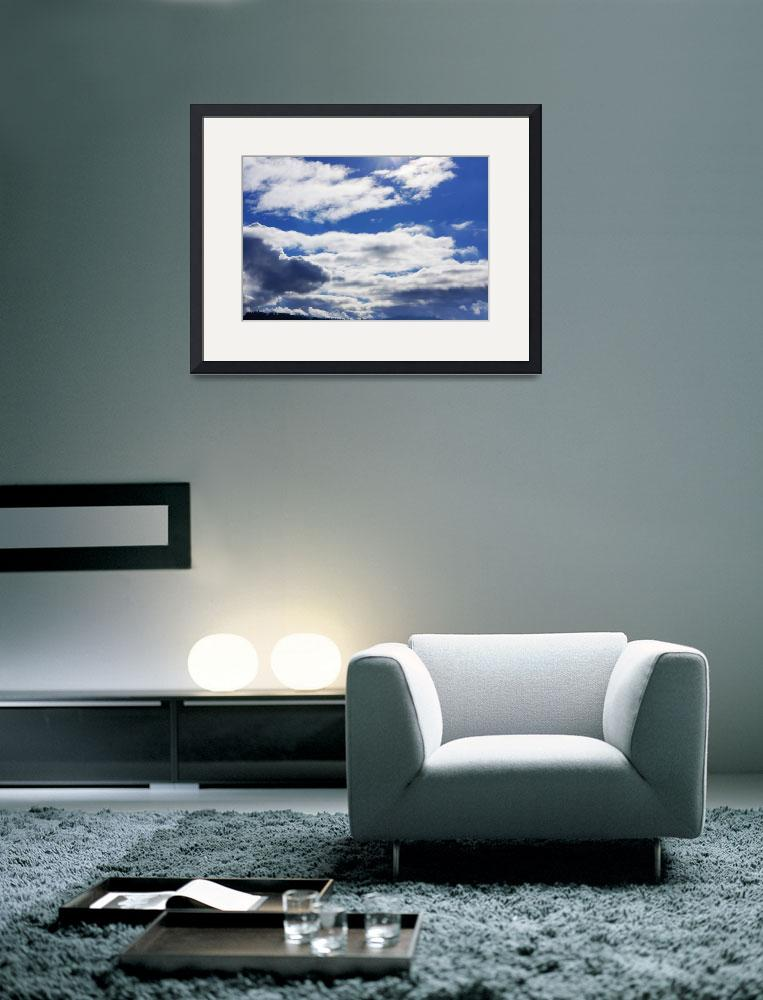 """Blue Sky Art Prints Fluffy Blue Clouds Weather Ski&quot  (2014) by BasleeTroutman"