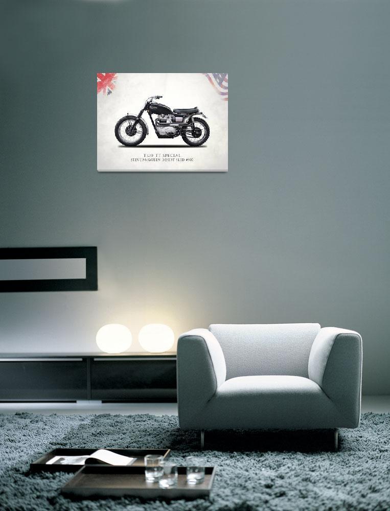 """McQueens Desert Sled Motorcycle Number 502""  by mark-rogan"