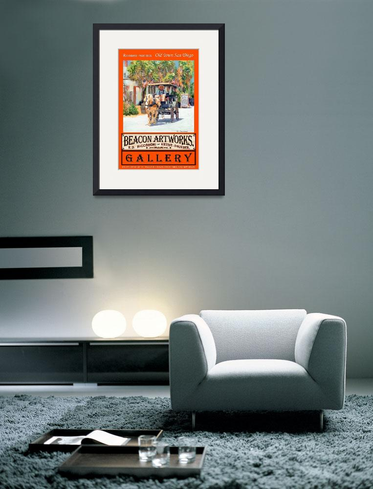 """""""Riccoboni Paintings Old Town San Diego Poster&quot  (2007) by RDRiccoboni"""