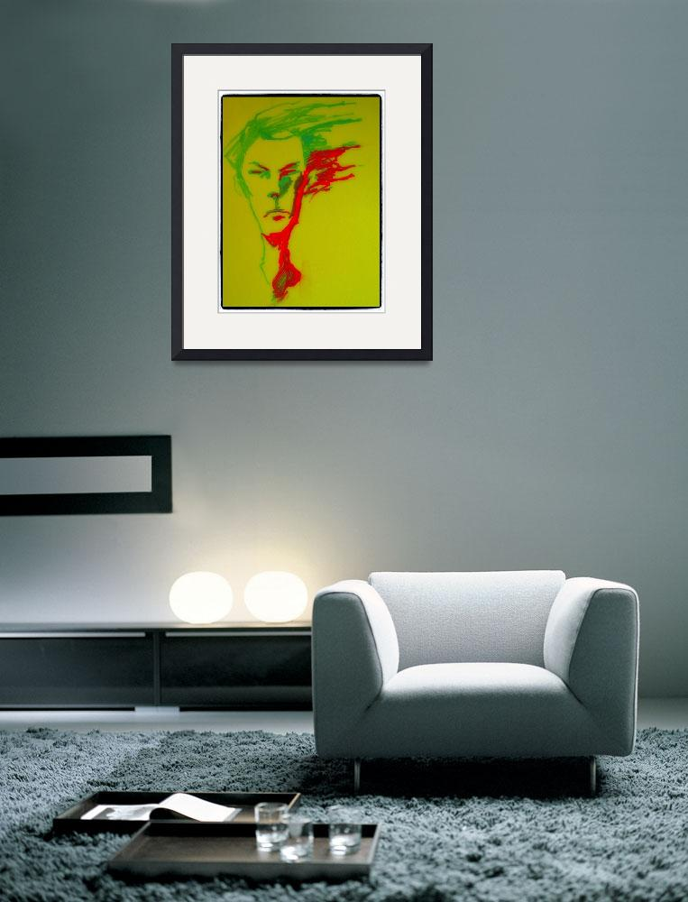 """""""Green and red face&quot  (2012) by emenica"""