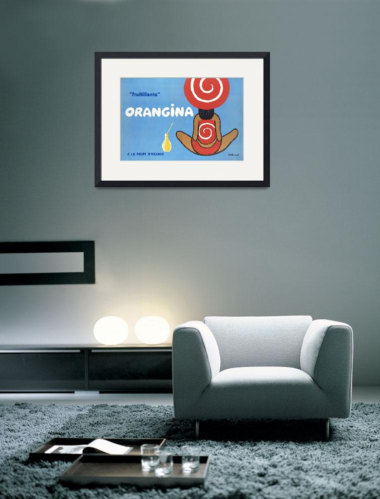 """Orangina Vintage Poster""  by FineArtClassics"