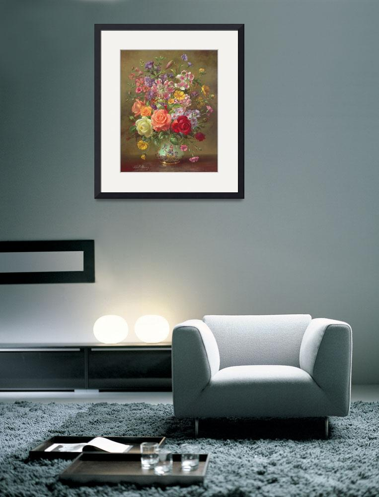 """A Summer Floral Arrangement, 1996&quot  by fineartmasters"