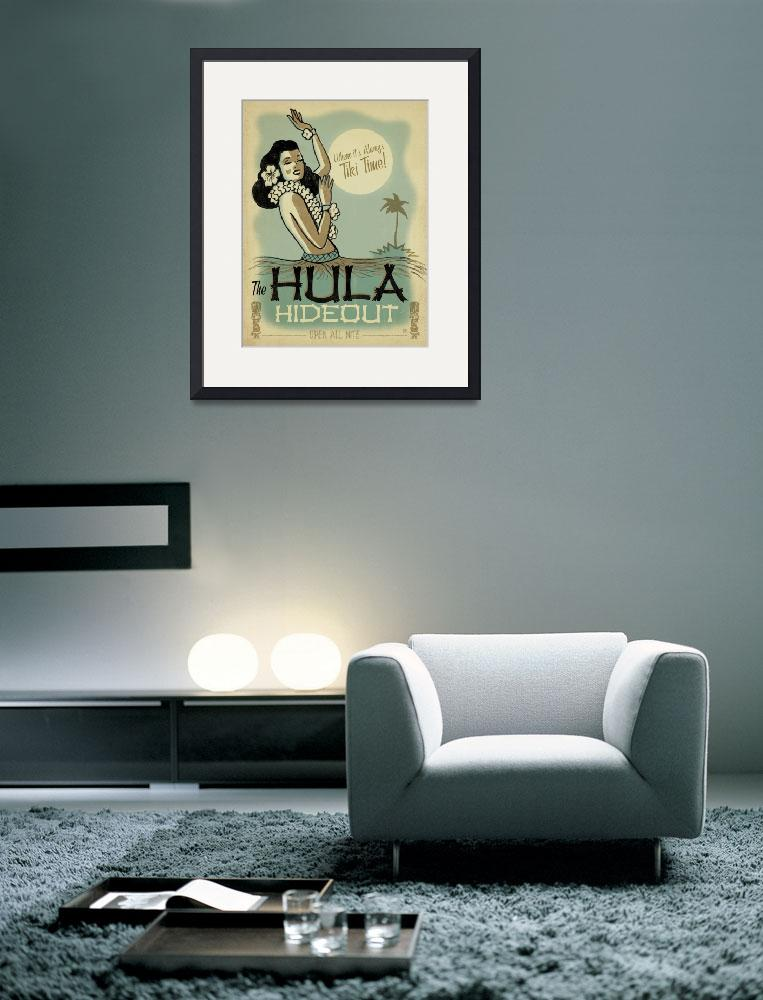"""""""The Hula Hideout - Retro Poster""""  by artlicensing"""