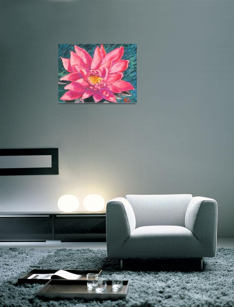 """Pink Lotus""  (2011) by AbbieGroves"