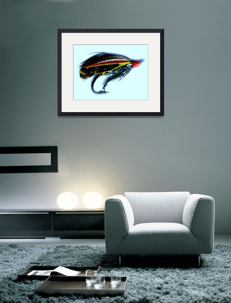 """""""Antique Salmon Fly&quot  (2010) by saddogshirts"""