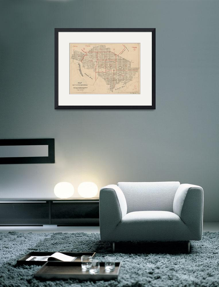 """Vintage Map of Washington DC (1894)""  by Alleycatshirts"