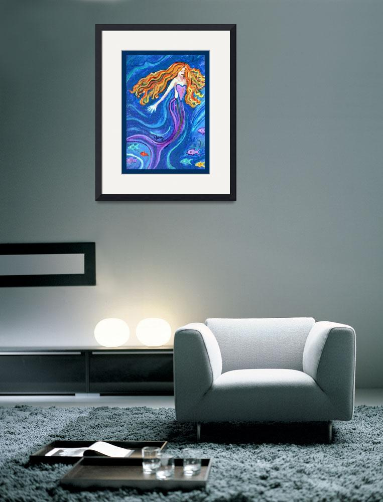 """""""Mermaid&quot  (2011) by paintingsbygretzky"""