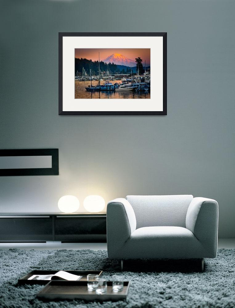 """""""Gig Harbor Afterglow&quot  (2011) by Inge-Johnsson"""