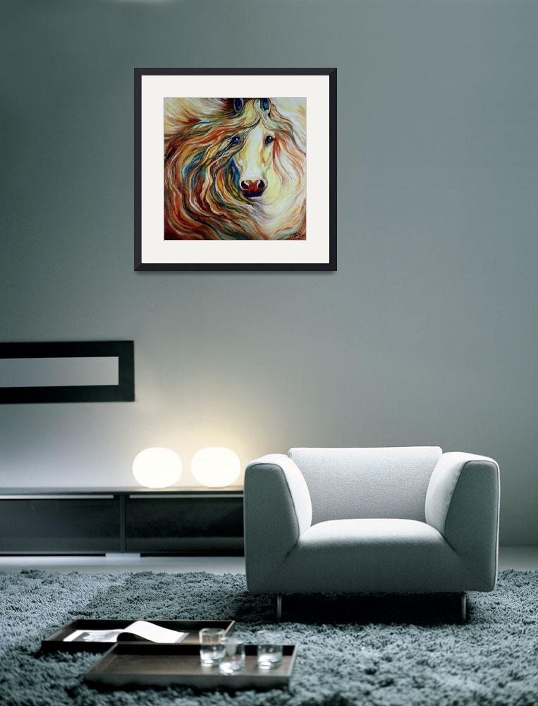 """""""FRIENDSHIP EQUINE ABSTRACT&quot  (2015) by MBaldwinFineArt2006"""
