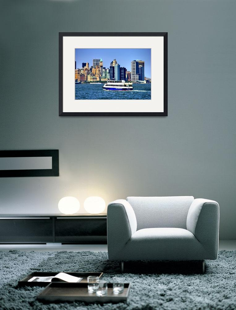 """""""Lower Manhattan View from Hudson Harbor&quot  (2009) by New-Yorkled"""