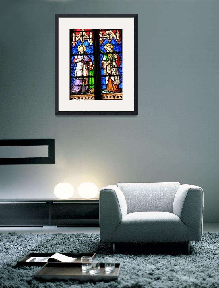 """Stained Glass Saints&quot  (2007) by Geoffrey_Angel-Attwood"