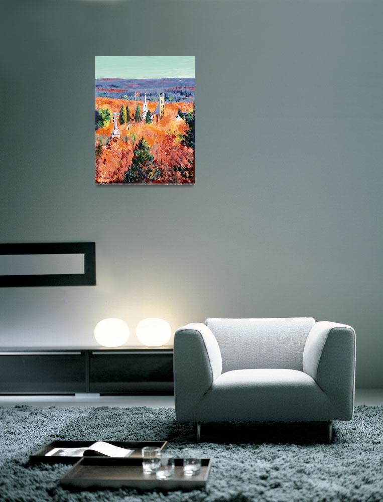 """Last days of Autumn - Newtown Connecticut Art&quot  (2006) by RDRiccoboni"
