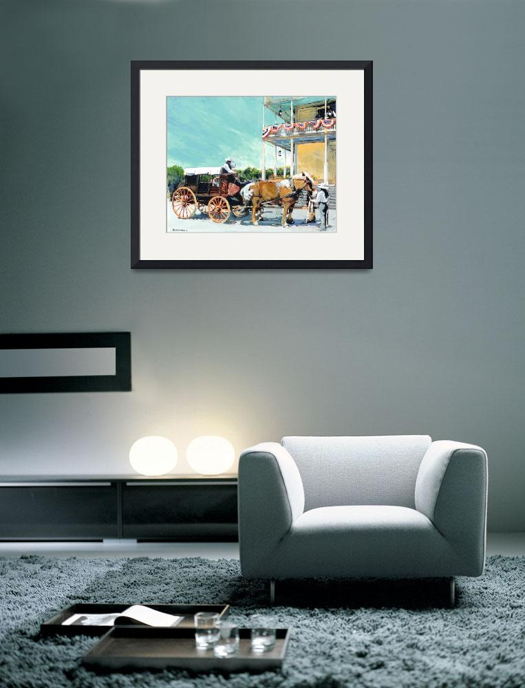 """""""Stagecoach At The Cosmopolitan Hotel&quot  (2010) by RDRiccoboni"""