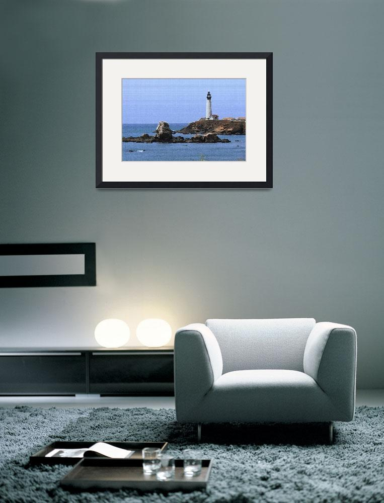 """""""Pigeon Point Lighthouse (Palette Knife)&quot  (2007) by FordLou"""