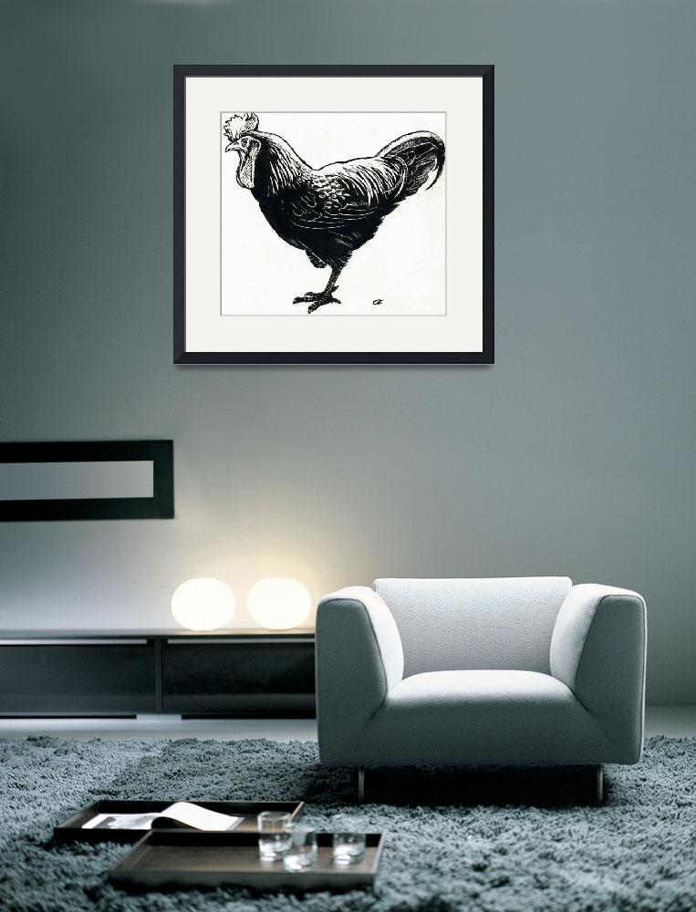 """""""The Hen, 1950s (scraperboard)&quot  by fineartmasters"""
